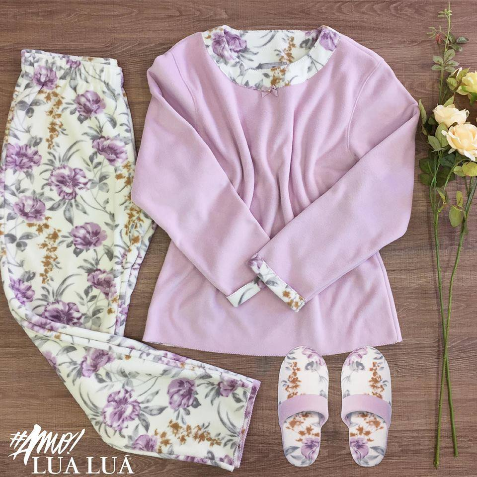 Pijama e chinelo Lua Luá